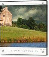 Storm Moving In Acrylic Print