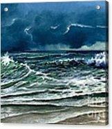 Storm Off Yucatan Mexico Acrylic Print