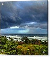 Storm On Oregon Coast Acrylic Print