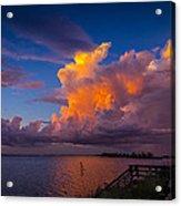 Storm On Tampa Acrylic Print