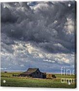 Storm Over Barn Acrylic Print