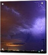 Storm Over Brush Acrylic Print