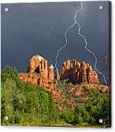 Storm Over Cathedral Rock Acrylic Print