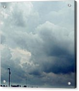 Storm Over Country Road Acrylic Print