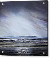 Storm Over Druridge Bay Northumberland 1 Acrylic Print by Mike   Bell