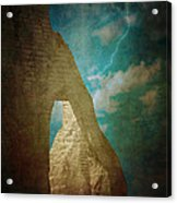 Storm Over Etretat Acrylic Print by Loriental Photography