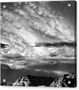 Storm Over Sedona Acrylic Print by Dave Bowman