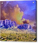 Storm Over The Superstitions Acrylic Print
