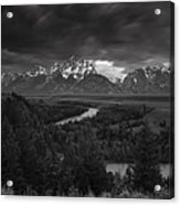 Storm Over The Tetons Acrylic Print by Andrew Soundarajan