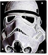 Storm Trooper Helmet Acrylic Print