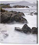 Storm Waves And Cliffs Acrylic Print