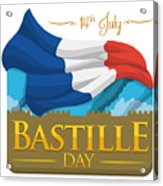 Storming Of The Bastille Representation Acrylic Print