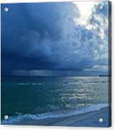 Storms Brewing Off Navarre Beach At Dawn Acrylic Print