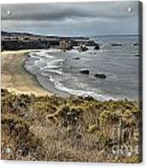 Storms Over An Unspoiled Beach Acrylic Print
