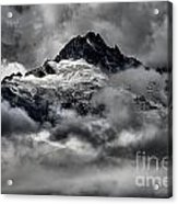 Storms Over Glaciers And Rugged Peaks Acrylic Print