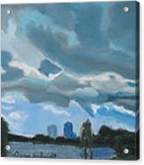Storms Rolling In Over Lake Highland In Orlando Acrylic Print