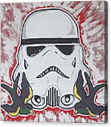Stormtrooper Tattoo Art Acrylic Print by Gary Niles