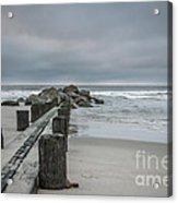 Stormy Beach Forcast Acrylic Print