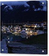 Stormy Boat Harbor Acrylic Print