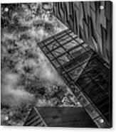 Stormy Clouds Over Modern Building Acrylic Print