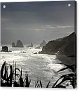 Stormy Coast New Zealand Acrylic Print