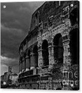Stormy Colosseum Acrylic Print