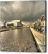 Stormy Day At Alphen Aan Den Rijn Acrylic Print