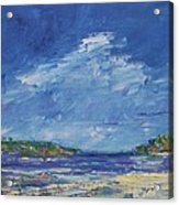 Stormy Day At Picnic Island Acrylic Print