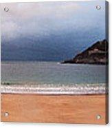 Stormy Day On The Beach Acrylic Print
