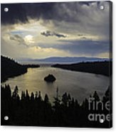 Stormy Emerald Bay Acrylic Print