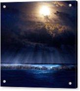 Stormy Moonrise Acrylic Print