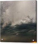 Stormy Nebraska Sunset Acrylic Print