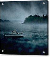 Stormy Night Off The Coast Of Maine Acrylic Print