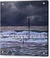 Stormy Ocean, Monavale Beach, Australia Acrylic Print