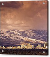 Stormy Reno Sunrise Acrylic Print