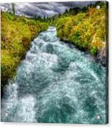 Stormy River Acrylic Print by Colin Woods