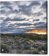 Stormy Santa Fe Mountains Sunrise - Santa Fe New Mexico Acrylic Print