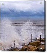 Stormy Seafront - Impressions Acrylic Print