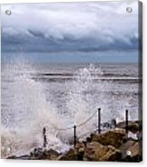 Stormy Seafront  Acrylic Print