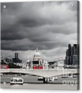 Stormy Skies Over London Acrylic Print