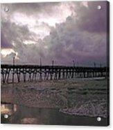 Stormy Sky In Myrtle Beach Acrylic Print