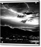 Stormy Sky - Lightening - Small Town Acrylic Print