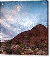 Stormy Sky Over Uluru Acrylic Print
