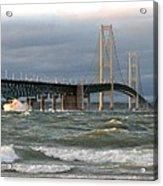 Stormy Straits Of Mackinac Acrylic Print
