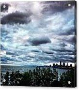 Stormy Sunrise Over Cleveland Acrylic Print