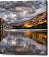 Stormy Sunset At Tenaya Acrylic Print