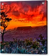 Stormy Sunset At The Watchtower Acrylic Print