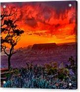 Stormy Sunset Greeting Card Acrylic Print