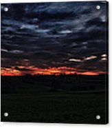 Stormy Sunset Acrylic Print by Miguel Winterpacht