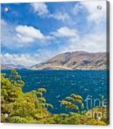 Stormy Surface Of Lake Wanaka In Central Otago On South Island Of New Zealand Acrylic Print